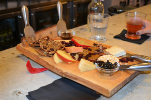Cheese Tasting Tray in use