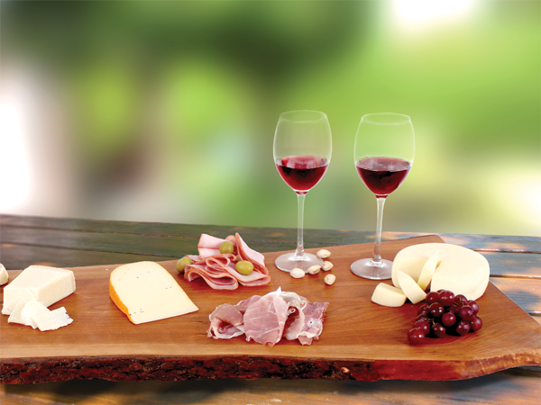 Image of Canadian Cheese Board on outdoor table