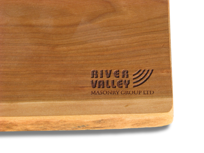 Photo of Canadian Cheese Board engraved for River Valley Masonry Group