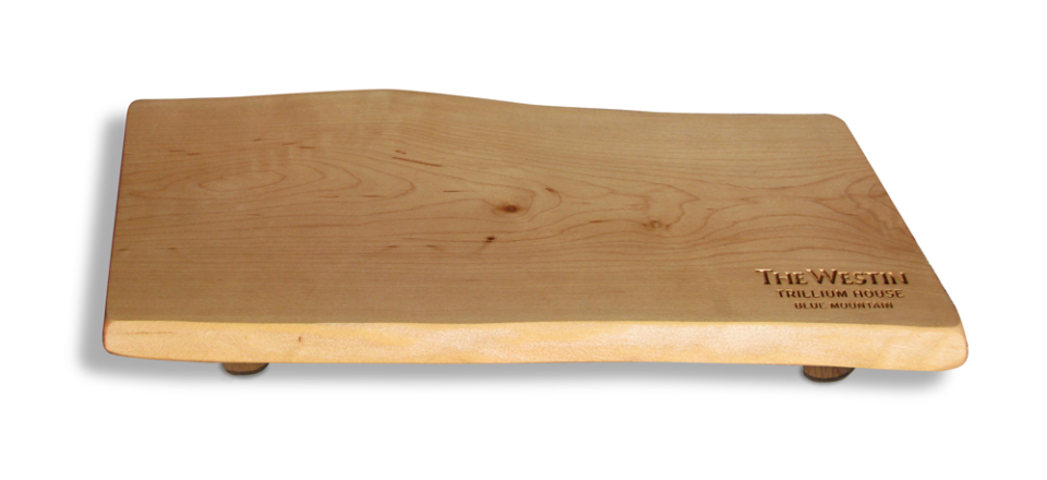 Photo of Canadian Cheese Board engraved for Westgate Trillium